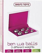 SHOTS TOYS BEN WA BALLS KEGEL EXERCISE PELVIC TRAINING GLASS BALLS - FREE PP UK