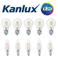 10x Kanlux FILAMENT LED 2W / 4W Kerze / GLS Glühbirne Lampe Licht 2700K / 6500K