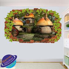 Le case a fungo nella stanza Wonderworld ufficio Vivaio Parete Adesivo Arte Murale XQ5