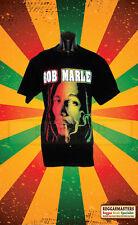 BOB MARLEY SMOKING SPLIFF WEED REGGAE RASTA ROOTS ONE LOVE DOUBLE SIDED T-SHIRT