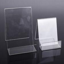 5x présentoir support de carte en acrylique tranparent 7,5x10x10cm / 10x12x15cm