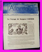 l'ATLANTIQUE Journal de bord  24 août 1934 du S.S. CHAMPLAIN