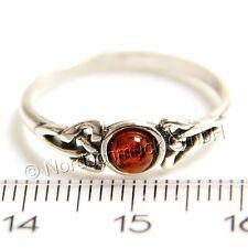 Bernstein cognac Ring keltisch celtic Sterling-Silber Größe 48 bis 62 Amber K269