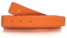 Ceinture orange reversible en cuir veritable ceinture 32 mm Boucle H Ceinture