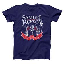 Samuel Jackson Beer Funny  Humor  Chappelle  Reto  Drinking Navy Men's T-Shirt