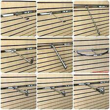 BACK BAR BACKBAR FITTINGS PRONGS ARMS HOOKS D RAILS RETAIL DISPLAY SHOP FITTING