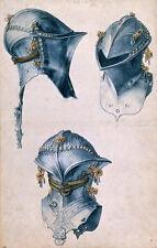 Albrecht Durer 3 studies helmet canvas print giclee 8X12&12X17 art reproduction