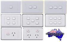 10PCS X 240V Double Power Point, Light Switch; Australian Standard