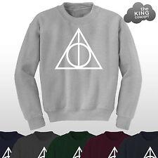 Deathly Hallows Jumper Top Sweater Potter Sweatshirt The Logo Voldemort Pullover