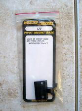 New Weaver WEATHERBY MARK V Rifle Pivot Mount Scope Front Base 120 Black
