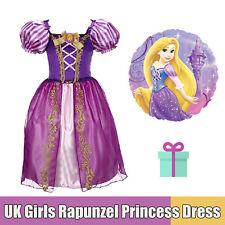 Girls Kids Tangle Rapunzel Fancy Dress Fairytale Princess Cosplay Costume Outfit