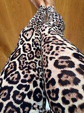 CHEETAH BLACK BROWN Animal leggings LEOPARD Ankle pants Cotton Juniors S M L