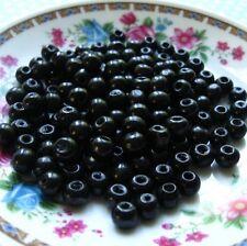 Lot 20 - 50 pièces Perle en bois Noir 8mm Creation Bijoux, Bracelet Collier