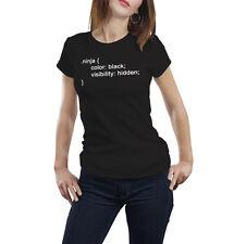 Ninja Camiseta Código lenguaje informático Css HTML