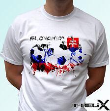 Slovakia football flag - white t shirt top design - mens womens kids baby sizes