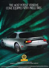 1993 Mazda RX7 - Pirelli - Classic Vintage Advertisement Ad D79