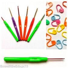 Crochet hooks needles 6 pcs set.  Stitch markers holders knitting