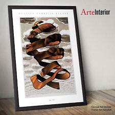 Stampa FINE ART - MC ESCHER - Peel (Buccia) 1955 Poster Alta Risoluzione HR