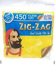 450 ZIG ZAG ULTRA SLIM FILTER TIPS RESEALABLE BAG SMOKING JOB LOT