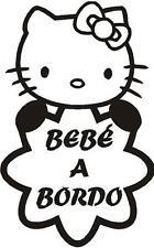 b84 Bebé a bordo hello kitty Adhesivo Pegatina Vinilo Sticker Cristal niño niña