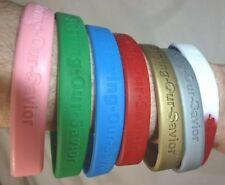 Christian Serving Our Savior (SOS) Silicone Friendship Bracelet, 7 colors, 3 sz