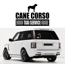 AYC Auto Aufkleber CANE CORSO Taxi Service Hunde Hundeaufkleber fun Siviwonder