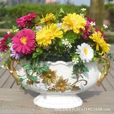 1 Bouquet 7 TESTE Artificiali Gerbera 8cm Floreale Posy Garden Home Decor