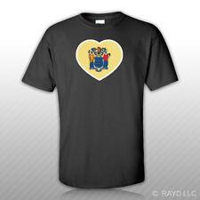 New Jersey Heart T-Shirt Tee Shirt NJ love hearts pride native