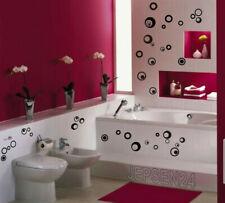 40 Retro Kreise Aufkleber K7, Größe 2-6cm für Bad Flur Möbel Wand Wandtattoo