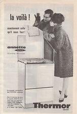 """Publicité Ancienne """" Gazinière Thermor """" 1963 """""""