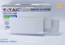 V-TAC VT-712  APPLIQUE LAMPADA DA MURO A LED DA INTERNO BIANCO NERO GRIGIO 12W