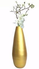 "New Uniquewise 31.5"" Spun Bamboo Modern Metallic Tall Floor Vase"