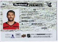 18/19 2018 UD PARKHURST HOCKEY PARKHURST PERMITS CARDS (PA-XX) U-Pick From List