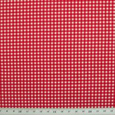 Tessuto di cotone 100% - Check Mini Gingham-ROSSO-ROSE & HUBBLE-Cut dal ROLL