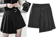 Jupe plissé asymétrique gothique punk lolita fashion boucle métal Japon PunkRave