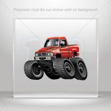 Decal Sticker Monster truck Helmet Atv Bike polymeric vinyl Garage st7 224ZK