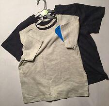 Boys 2 pack Short Sleeve T Shirts 1 light Grey 1 Dark Grey