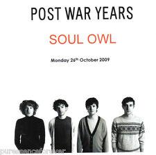 POST WAR YEARS - Soul Owl (UK 3 Tk Media/DJ CD Single)
