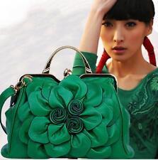 Korean Style Women Rose Large Flower Tote Faux Leather Handbags Fashion Bag W625