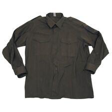"""Para Hombres Camisa Vintage Ejército Austríaco Verde Oliva 42"""" - 52"""" pecho militar ligero"""