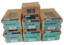 GECCO Spanplattenschrauben PZ 2 gelb verzinkt ++AUSWAHL++ M5 Holzschrauben