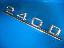 Mercedes Benz W123 240D trunk lid emblem designation