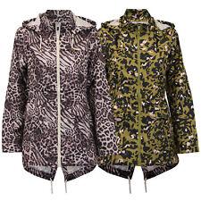 Ladies Kagool Rain Jacket Brave Soul Womens Cagoule Coat Hooded Fish Tail New
