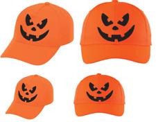 Calabaza Sombrero Gorra de béisbol Máscara De Halloween Disfraz Elaborado Vestido Horror Cara Divertida