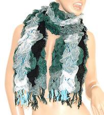 SCIARPA scaldacollo donna elegante VERDE NERO BIANCO scarf écharpe шарф schal 30