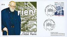 """ABP4 FDC """"1st Day - Abbé Pierre (Henri Grouès), Founder of Emmaus"""" (Paris) 2010"""