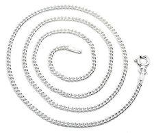 Panzerkette 925 Sterling Silber rhodiniert 1,7mm Silberkette Halskette Kette NEU