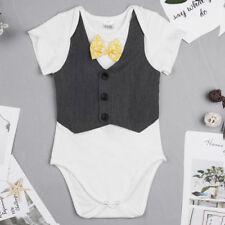 Cotton Newborn Infant Baby Boys Girls Bodysuit Romper Clothes Outfits Twins Set