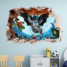 LEGO BATMAN WALL STICKER  - 3D BOYS GIRLS BEDROOM VINYL WALL ART DECAL