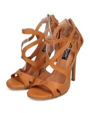 New Women DbDk Paulette-2 Leatherette Open Toe Caged Strappy Stiletto Sandal